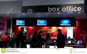 people line up for buying movie ticket stock footage video 87233280