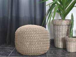 Taupe Ottoman Taupe Crochet Pouf Ottoman Nursery Foot Stool Pouf Furniture