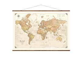 Large World Map Canvas by Modern World Map 31x44 Canvas Map Modern Map