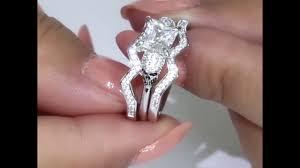 skull wedding ring sets vancaro skull bridal set