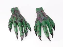 large green goblin hands gloves monster crocodile halloween fancy