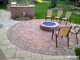 Backyard Fire Pit Grill by Paver Patio With Built In Fire Pit Grill Surround And Outdoor Bar
