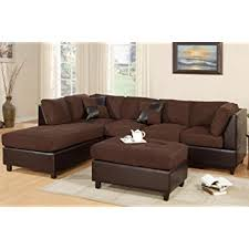 Section Sofas New Chocolate Microfiber Leatherette Sectional Sofa