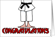 congratulations on black belt cards from greeting card universe