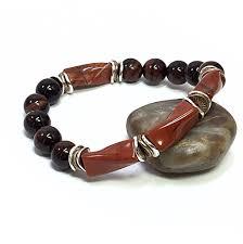 beaded bracelet jewelry images Men 39 s beaded bracelet jewelry for him tigers eye bracelet red jpg