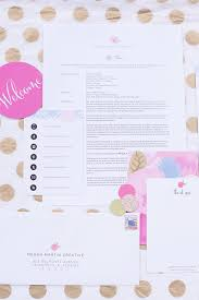 designing your client welcome packet on megan martin creative