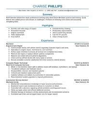 resume for auto mechanic 12 automotive technician resume example