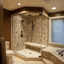 Shower Designs With Bench Walk In Shower Design With Bench And Wall Lamps Also Toilet