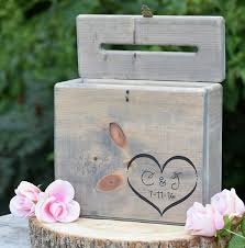 amazon com secured lockable card box with card slit rustic