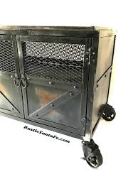 industrial cabinet metal nightstand tv stand end table