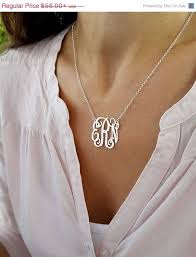 3 initial monogram necklace sterling silver best 25 initial necklace silver ideas on initial