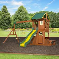 Backyard Adventures Reviews Backyard Discovery Oakmont All Cedar Swing Set U0026 Reviews Wayfair