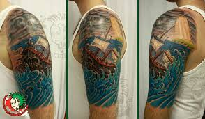 ship in storm tattoo design photos pictures and sketches