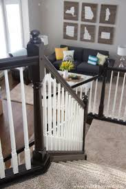 Two Tone Gray Walls by Best 25 Painted Banister Ideas Only On Pinterest Banisters