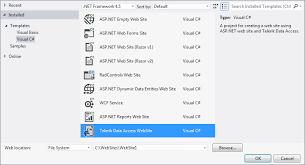 using telerik data access project templates