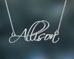 personalized name necklace silver images Silver name necklace etsy jpg