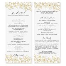 tea length wedding program template wedding program template instantly edit yourself