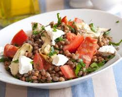 comment cuisiner des lentilles en boite recette salade de lentilles au chorizo artichauts tomates et feta