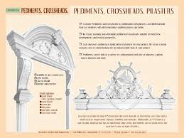 Exterior Door Pediment And Pilasters Windows And Doors Headers Gable Roof Design Pediment Cornices
