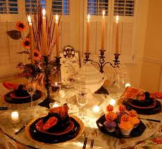 New Year S Day Table Decoration by Lit Halloween Table Setting With Spiderweb Tablecloth Spider