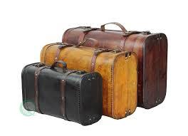amazon com vintiquewise tm 3 colored vintage style luggage