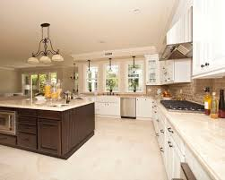 White Cabinet Kitchen Design Contemporary White Cabinets Kitchen Tile Floor Use Arrow Keys To