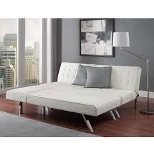 mixxci com modern sofa bed sleeper faux leather convertible sofa