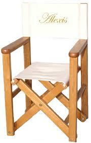 chaise metteur en sc ne b b metteur en scène teinte anglaise brodé au prénom mobilier enfant
