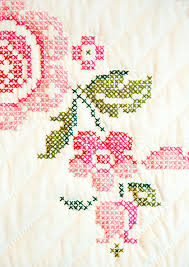 cross stitch flower 1 photograph by marilyn hunt