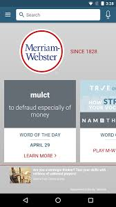 meriam webster dictionary apk dictionary merriam webster android apps on play