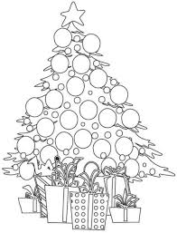 cute christmas tree coloring pages simple christmas tree coloring