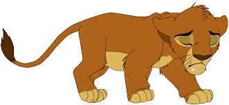 sad lion clipart clipartxtras
