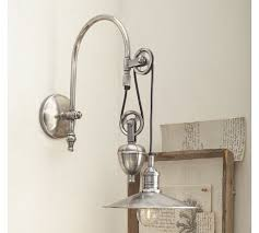 pottery barn lighting sconces packard pulley single sconce pottery barn light wall home