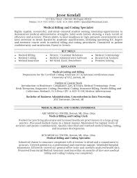 Program Specialist Resume Awesome Medical Billing Specialist Resume Objective Pictures