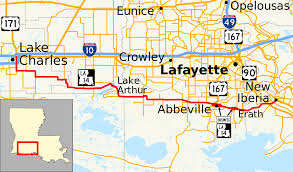 Louisiana State Map by Louisiana Highway 14 Wikipedia