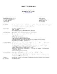 Resume Types Examples by Targeted Resume Samples Resume Format 2017