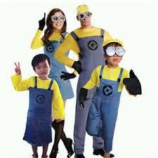Girls Minion Halloween Costume Kids Boys Girls Minions Costume Despicable Halloween Fancy