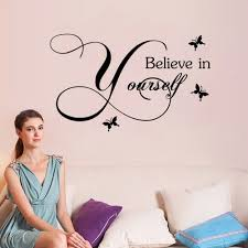 believe home decor yeduo believe in yourself home decor creative decal removable