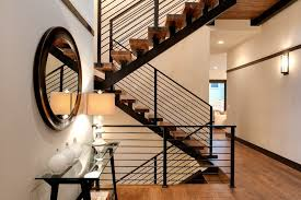 Metal Stair Banister Metal Stair Railing Staircase Contemporary With White Post