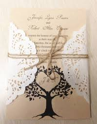 Country Themed Wedding Diy Rustic Country Themed Lace Wedding Invitations Ipunya