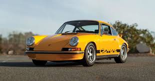 porsche signal yellow 1973 porsche 911 carrera rs 2 7 touring