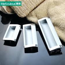 Recessed Cabinet Door Pulls Flush Cabinet Pulls Recessed Edge Pull Satin Nickel Contemporary