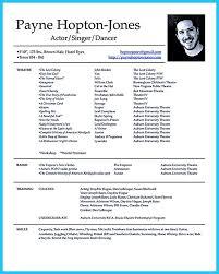 Dancer Resume Sample Actors Resume Example