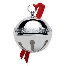 2015 wallace sleigh bell silverplate ornament can be engraved