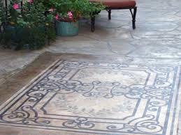 14 best stenciled concrete patio floors images on pinterest