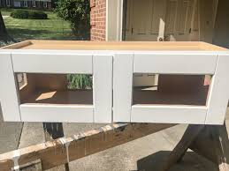 diy window seat from a kitchen cabinet bless u0027er house