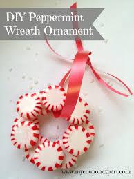 festive diy peppermint wreath ornament