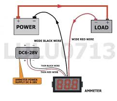 circuit v27d 100a wiring diagram led voltage meter schematics for