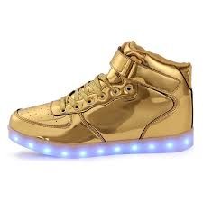 light up shoes led shoes kids high top gold remote