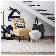 faux fur stool white threshold target
